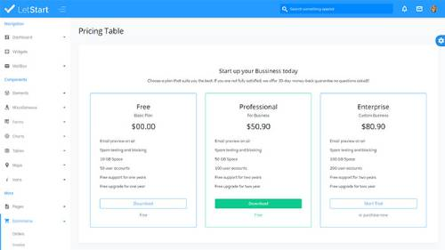 Image Preview of Pricing UI Product