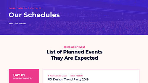 Image Preview of Schedules Product
