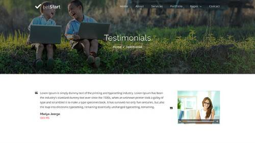 Image Preview of Testimonial V2 Product