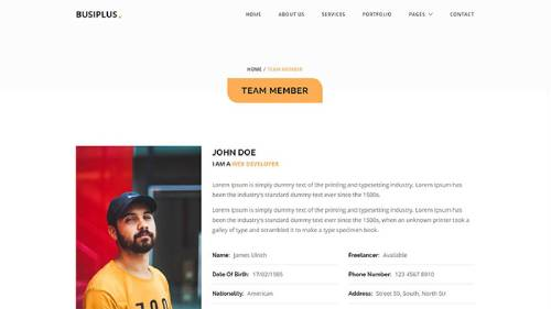 Image Preview of Member Profile Product