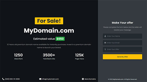 Image Preview of Homepage 3 Dark Layout Product