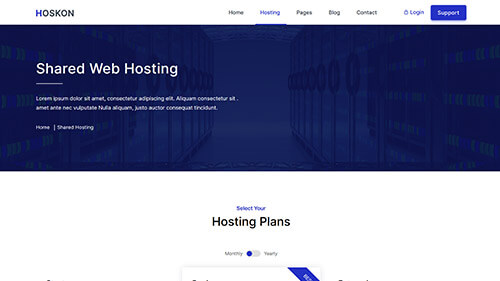 Image Preview of Shared Hosting Product
