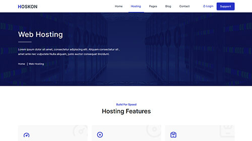 Image Preview of Web Hosting Product
