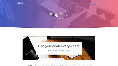 Image Preview of Blog Post Product