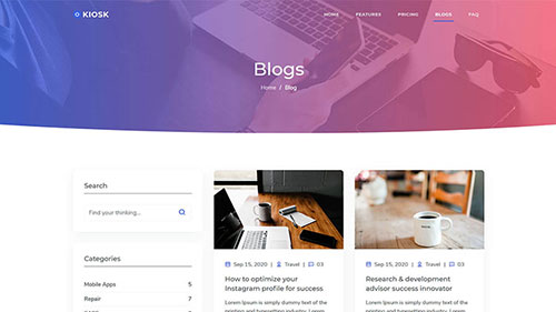 Image Preview of Blogs Left Sidebar Product