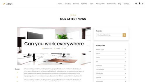Image Preview of Blog Post Right Sidebar Product