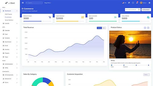 Image Preview of E-Commerce Dashboard Product