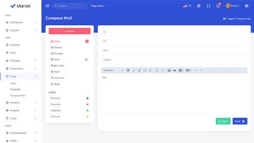 Image Preview of Compose Mail Product