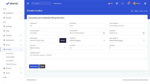 Image Preview of Create Invoice Product