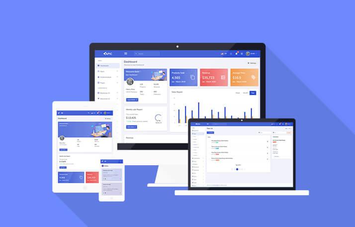 Buy APIC Admin Dashboard Template at $12