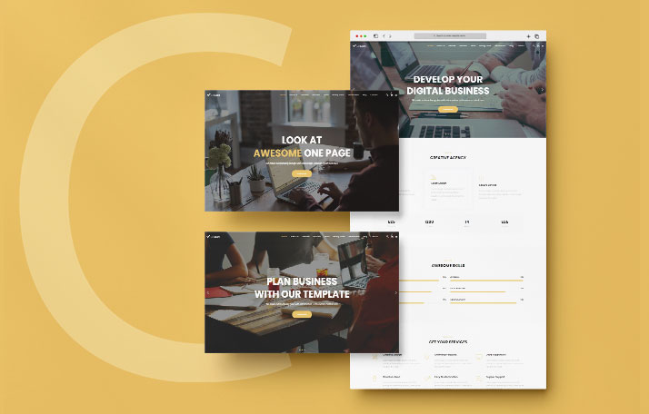 Buy Agency Landing Page Template at 8