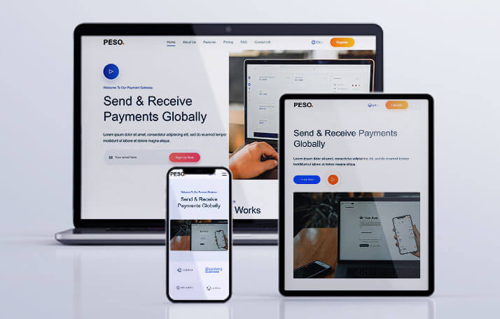 Buy PESO - App Landing Page Templates Template at 4